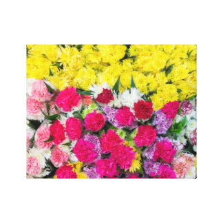 Colourful flowers canvas print
