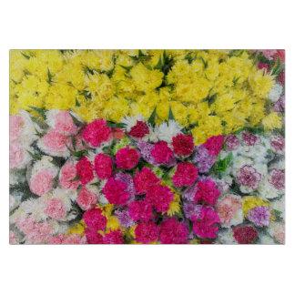 Colourful flowers cutting board