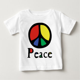 Colourful Flowing Peace Sign Baby T-Shirt