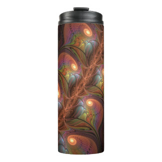 Colourful Fluorescent Abstract Modern Brown Thermal Tumbler