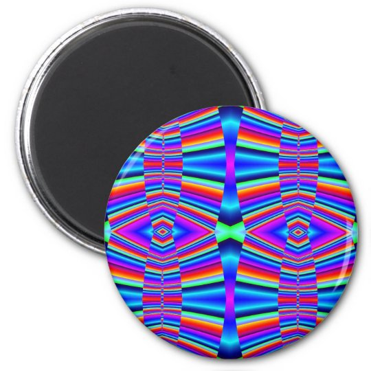 Colourful fractal magnet