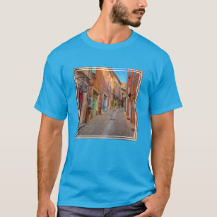 Colourful French Hillside Town T-Shirt