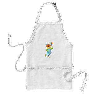 Colourful Friendly Clown With Mini Umbrella Standard Apron