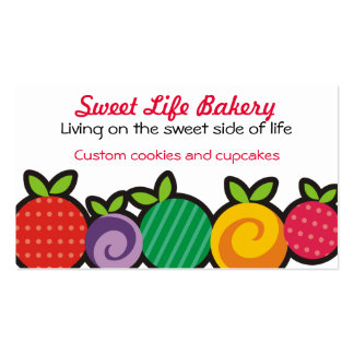 Colourful fruit bakery chef catering business card