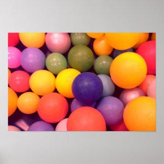 Colourful Fun Ball Pit Pattern Poster