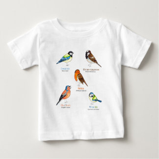 Colourful garden birds baby T-Shirt