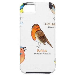 Colourful garden birds iPhone 5 case