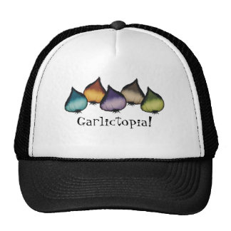 colourful garlic food cooking chef apparel, cap
