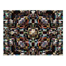 Colourful Geometric Mandala Abstract Post Card