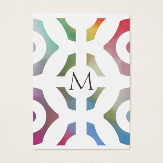 Colourful Geometric Pattern and Monogram