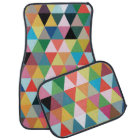 Colourful Geometric Patterned Floor Mats