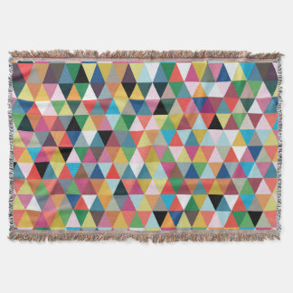 Colourful Geometric Patterned Throw Blanket