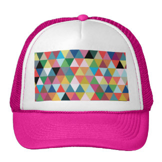 Colourful Geometric Patterned Trucker Hat