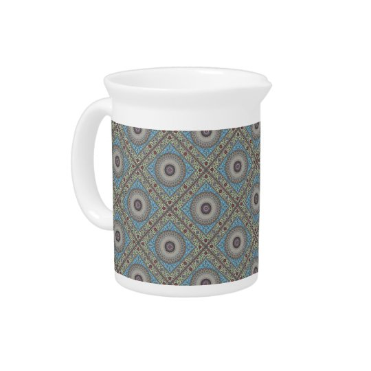 Colourful Geometric Tapestry Pitcher