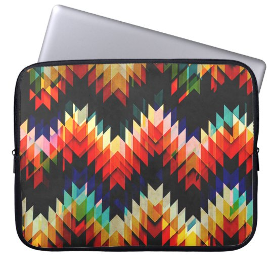 Colourful Geometric Weave Laptop Sleeve