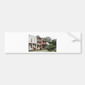 Colourful Ghost Town Buildings Bumper Sticker