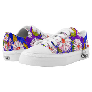 Colourful Giant Daisy Watercolour Low Top Shoes Printed Shoes