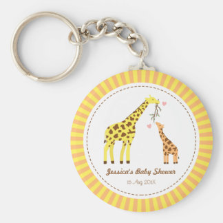 Colourful Giraffe Mommy and Baby Party Favors Key Ring