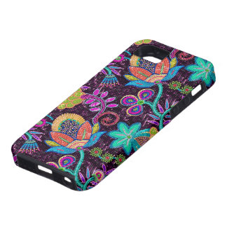 Colourful Glass Beads Look Retro Floral Design iPhone 5 Covers