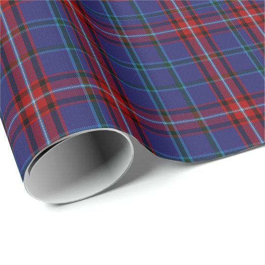 Colourful Glenn Clan Tartan Plaid Wrapping Paper