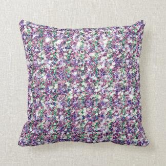 Colourful Glitter Texture Print Throw Pillow