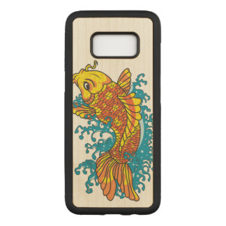 Colourful Goldfish Koi Carved Samsung Galaxy S8 Case