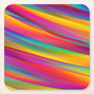 Colourful Gradients Abstract Square Paper Coasters