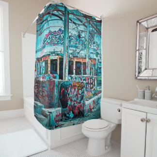 Colourful Graffiti Street Art Shower Curtain