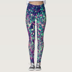 Colourful Grunge Kaleidoscope Pattern Leggings