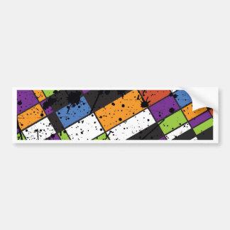 Colourful grunge squares bumper sticker