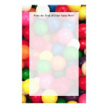 Colourful Gum Ball Candy Custom Stationery