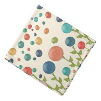 Colourful Gum Drop Garden Pattern Bandanna
