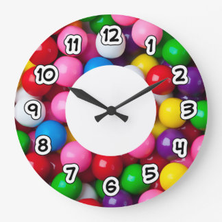 Colourful Gumballs Wall Clock