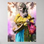 """Colourful Gypsy Girl 20"""" x 28"""""""