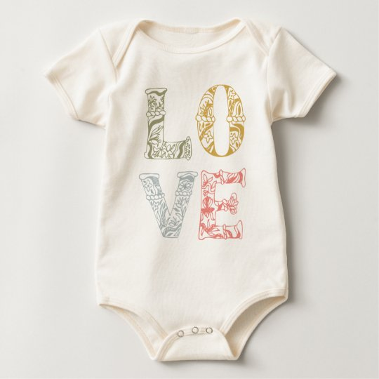 Colourful Hand-drawn Floral Love | Bodysuit