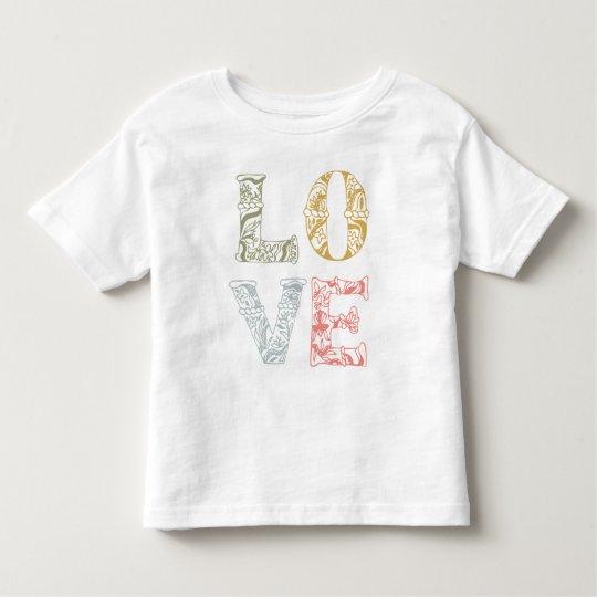 Colourful Hand-drawn Floral Love | Shirt