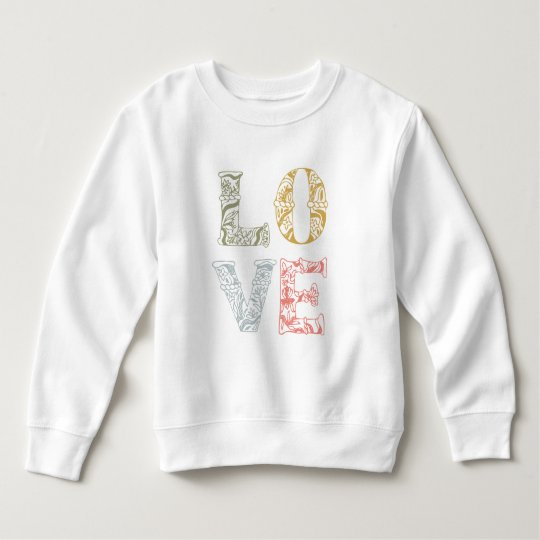 Colourful Hand-drawn Floral Love   Sweatshirt