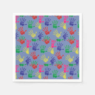 Colourful hand printed ,Paper Napkin . Disposable Napkin