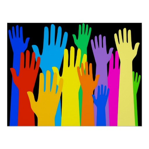 Colourful Hands Poster