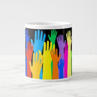 Colourful Hands Extra Large Mug