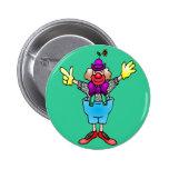 Colourful Happy Clown Pinback Button