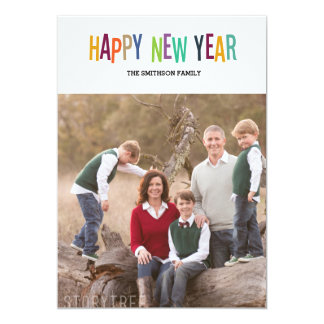 colourful happy new year new year card