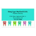Colourful Happy Teeth Custom Dentist Business Card