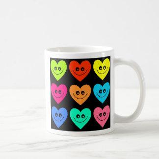 Colourful Heart Basic White Mug