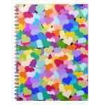Colourful Heart Confetti Notebook