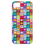 Colourful Heart Squares iPhone 5 Case