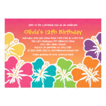 Colourful Hibiscus Birthday Invitations Any Age