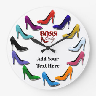 Colourful High Heel Shoe Wall Clock
