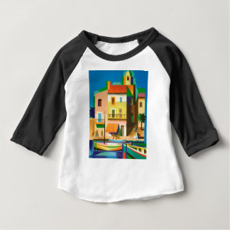 Colourful holiday scene baby T-Shirt