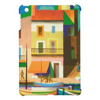Colourful holiday scene iPad mini cover